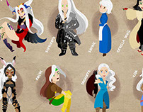 Cool people with white hair
