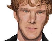 Benedict Cumberbatch: Digital Painting Practice