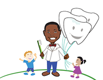 The Pediatric Dental Studio logo illustration
