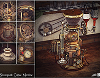 Steampunk coffee machine