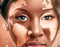 Ms Africa Digital Oil Painting by Wayne Flint