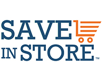 SaveInStore branding and visual design of website