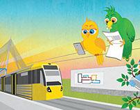 Bird PR | Illustrated Wall Mural