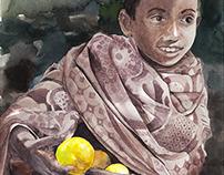 Ethiopian Boy Selling Lemons