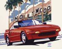 Classic Car Illustrations