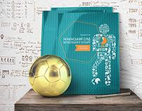 Football magazine with infographics