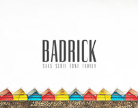 Badrick Sans Serif 3 Fonts Family Pack