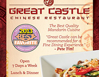 Magazine Ad: Great Castle Chinese Restaurant