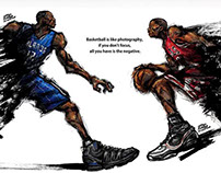 Dwight Howard vs Derrick Rose_ magazine ad 2010