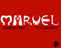 Marvel Characters Typography