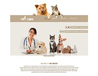 Pet Care Website Design