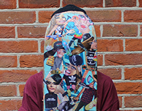 Upcylced Collaged Skateboard