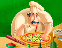 Pizza Box Illustration & Design
