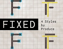 Fixed, a new font from Produce.