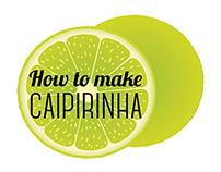 """Infographic_ How to make """"caipirinha""""?"""