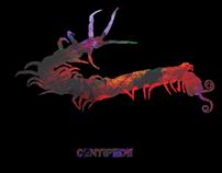 Centipede T shirt design