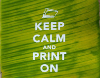 Silkscreen Printing on Banana Leaves