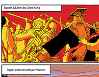 Boxers & Saints by Gene Yang, Colored pages