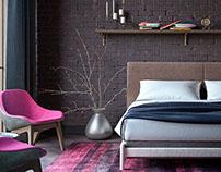 Glamor Loft   Moscow bedroom