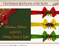 Christmas Ribbons with Bells