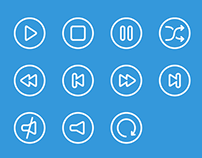 Audio & video outline icons