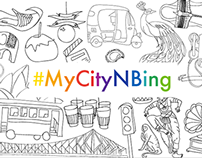 #MyCityNBing Illustrations