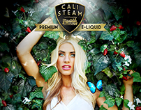 Cali Steam Premium E-Liquid Branding