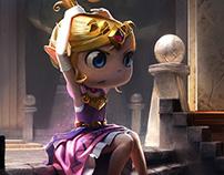 Princess Zelda . The Legend of Zelda: An Art Tribute