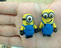 Clay made miniatures minions