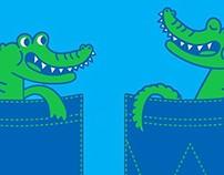 Baby Alligator in a Pocket