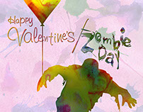 Valentine's/Zombie Day Poster Concept