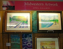 Park Ridge Public Library Art Display October 2014