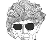 Geometrical Warhol Portrait