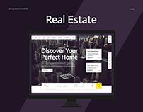 Webpage (Real Estate) - UXUI Interaction Design