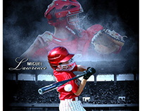 baseball sports memory mates photography template