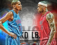 Lebron vs Durant Infographic 2