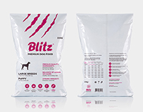 Логотип и упаковка кормов «Blitz»