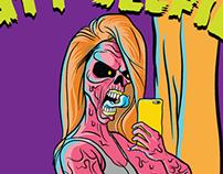 Butt Selfie Zombie T-Shirt