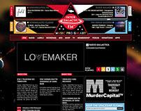 Web design - Intergalactic FM