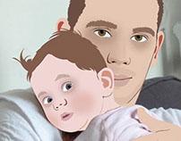 Série de portrait : 6 - Dad & Baby