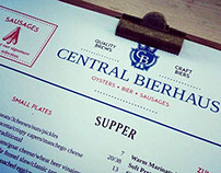 Central Bierhaus Menu & Brand Design