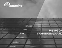 Emagine Company Website Concept
