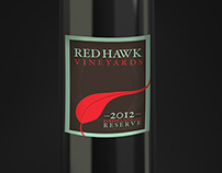 Red Hawk Vineyards Wine Label