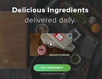 Food Delivery Startup Web Design