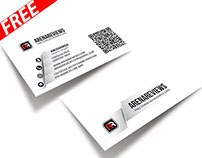 White Gray Clean Business Card Template (FREE)
