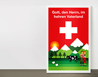 720th SWISS CONFEDERATION CELEBRATION - Poster Design