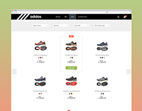 Adidas online store concept