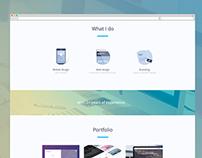 Own portfolio website wip