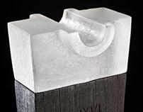 Australian Glass Artist Making Cast Glass Sculpture