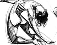 Acrobatics - Extreme Pose Study